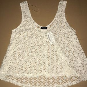 Crochet lace all over croptop